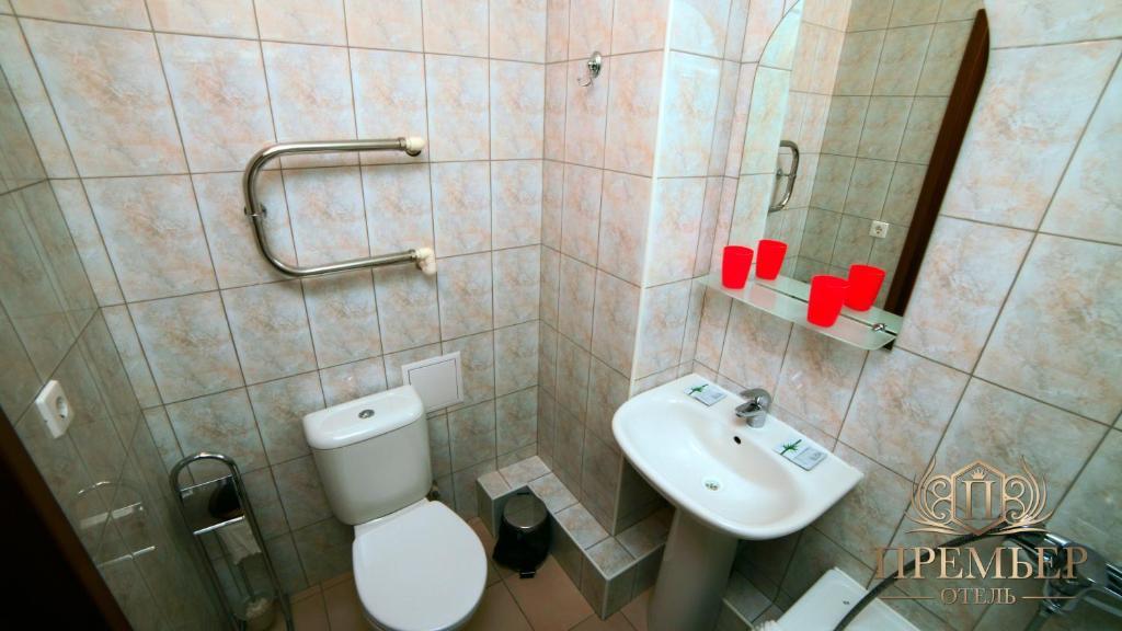 Ванная комната в Премьер Отель Воронеж Центр