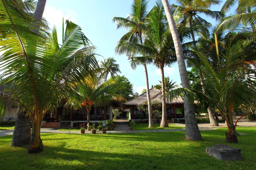 A garden outside Amrita Maumere Resort