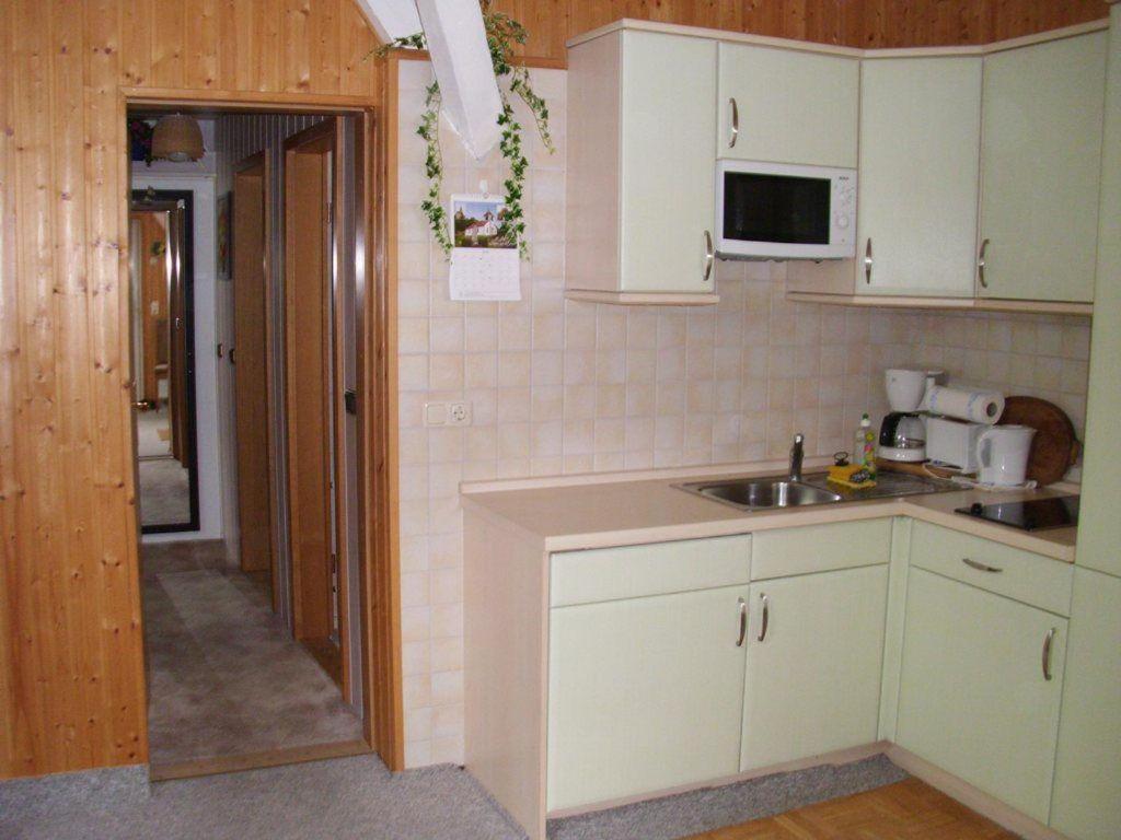 Η κουζίνα ή μικρή κουζίνα στο Ferienwohnung-Stegmann