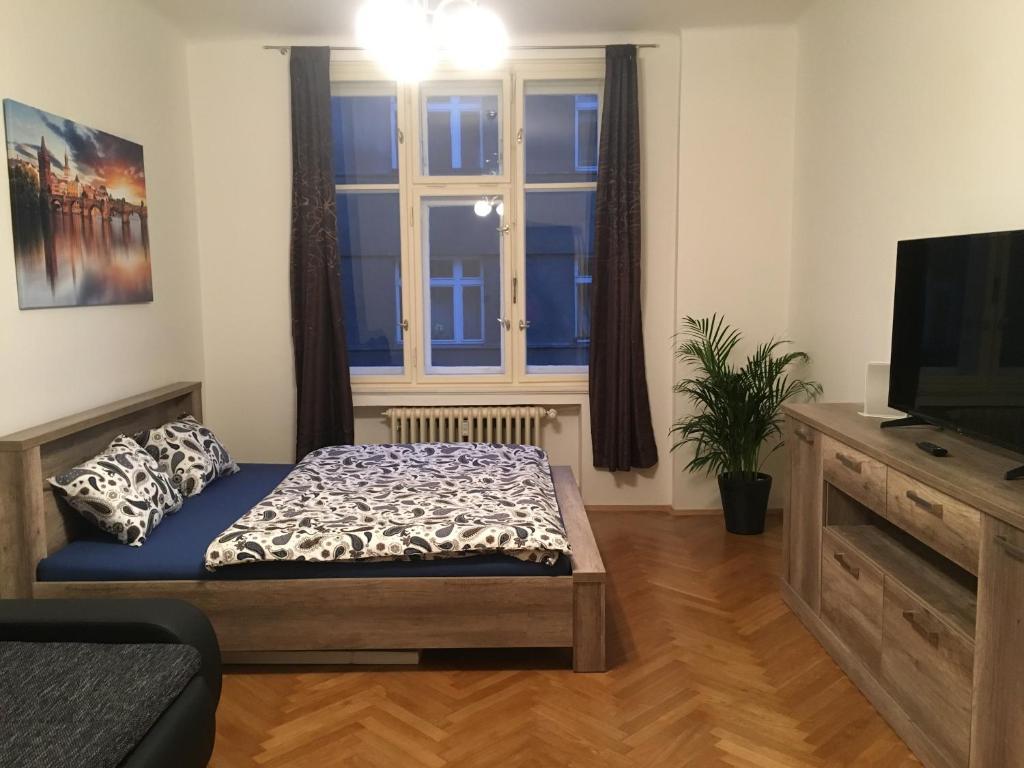 Ein Sitzbereich in der Unterkunft Tomas Apartment
