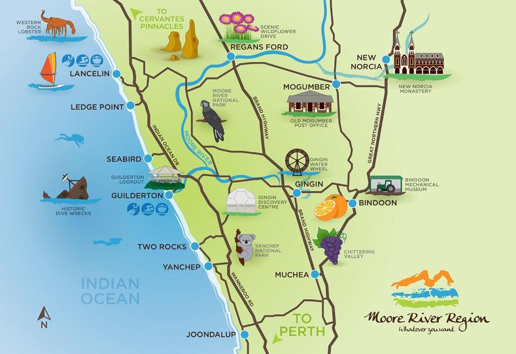 Lancelin Island Map