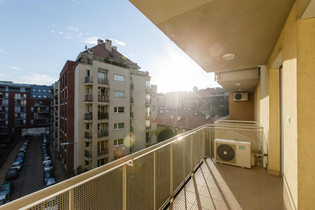 A balcony or terrace at Vivaldi Apartments Budapest
