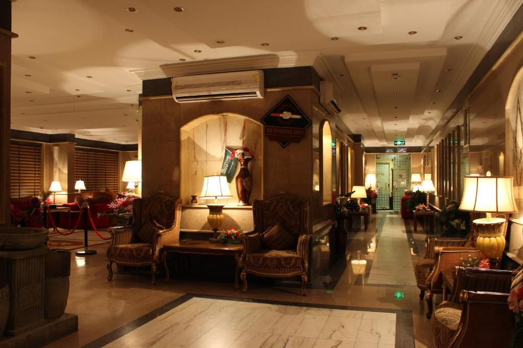 The lobby or reception area at Abha Crown Hotel