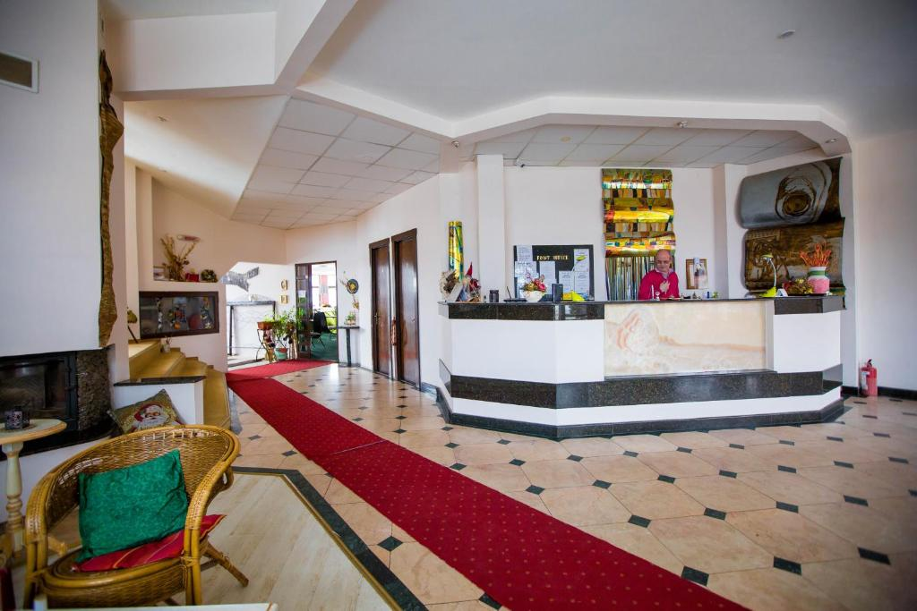 The lobby or reception area at Hotel Onix