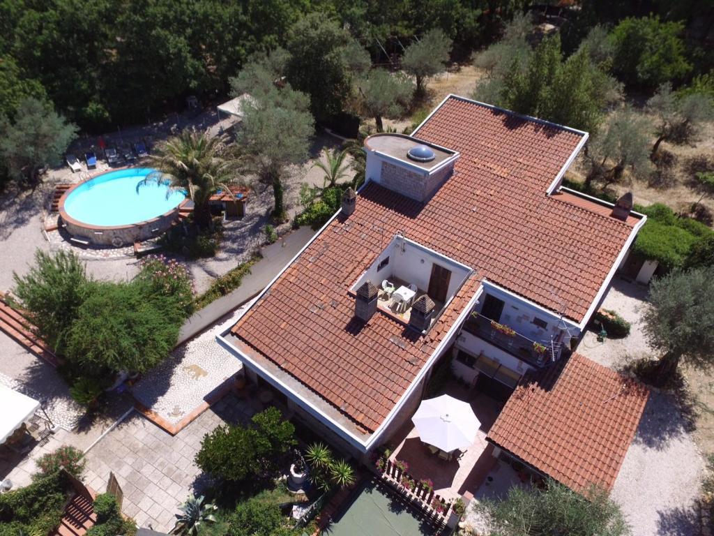Vista aerea di Villa San Valentino