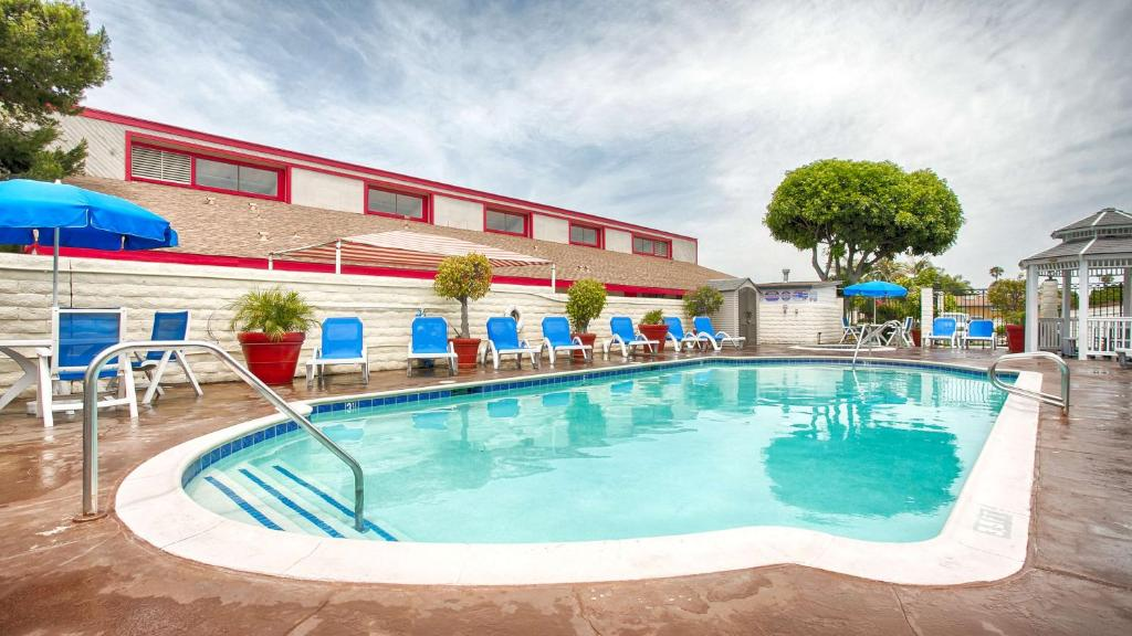 The swimming pool at or near Best Western Surf City