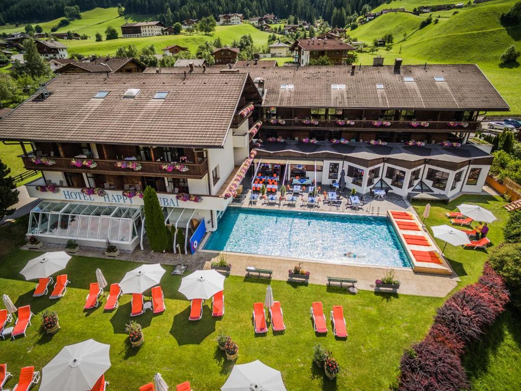 A view of the pool at Happy Stubai or nearby