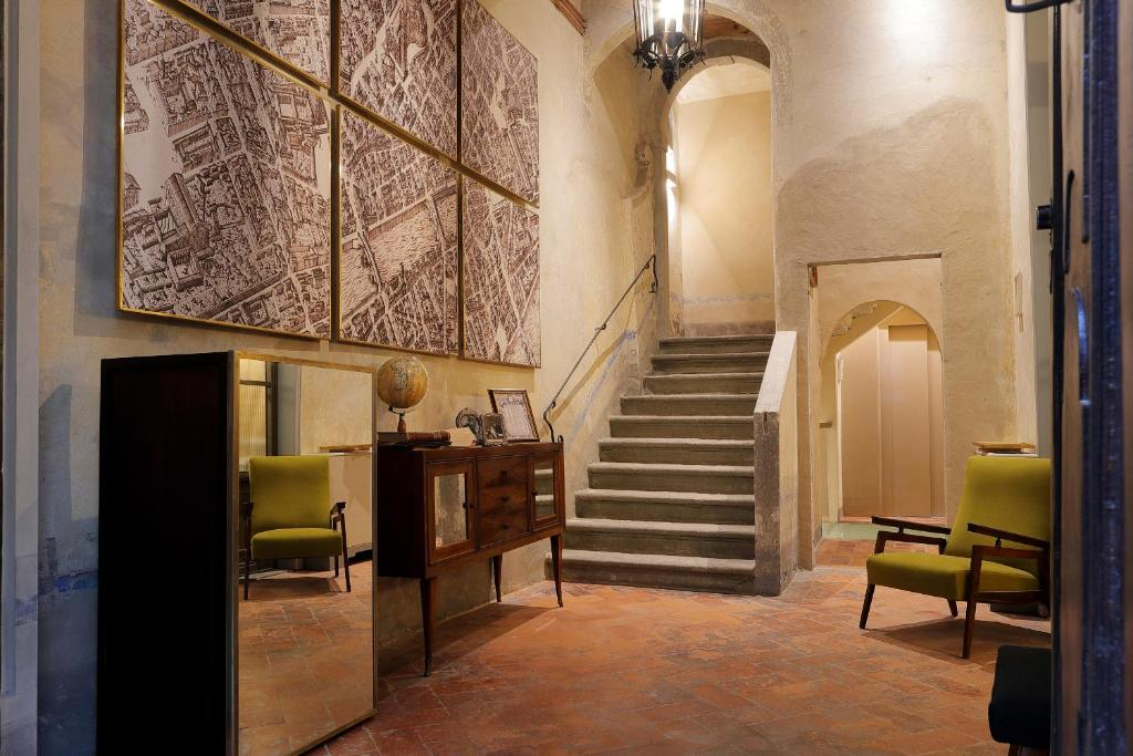 The lobby or reception area at Residenza La Musa Amarcord