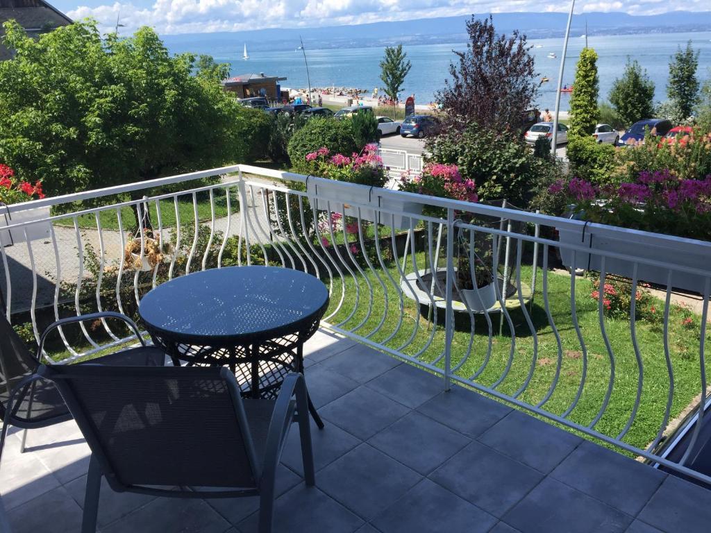 Balcon ou terrasse dans l'établissement villa maxilly