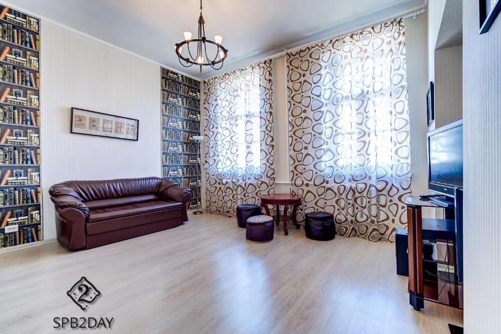 Гостиная зона в Apartment on Efimova 1-1