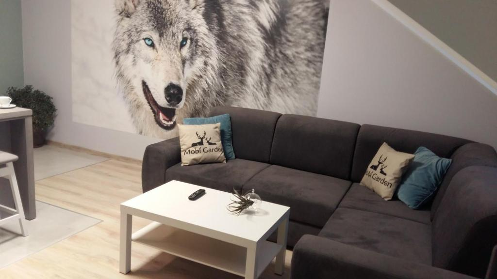 A seating area at Apartament Widokowy