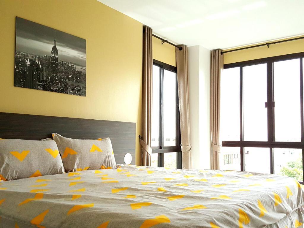 Gulta vai gultas numurā naktsmītnē THE ALL 24 Luxury Residence