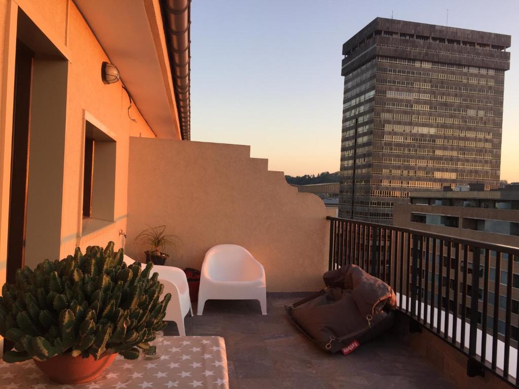 A balcony or terrace at Apartamento Egia