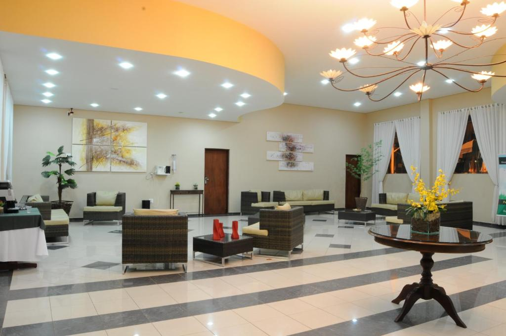 The lobby or reception area at Resort Recanto do Teixeira All Inclusive