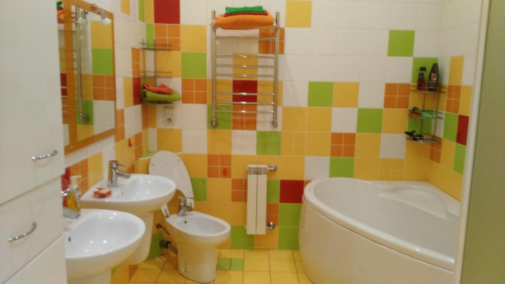 A bathroom at Apartment on Lenina boulevard