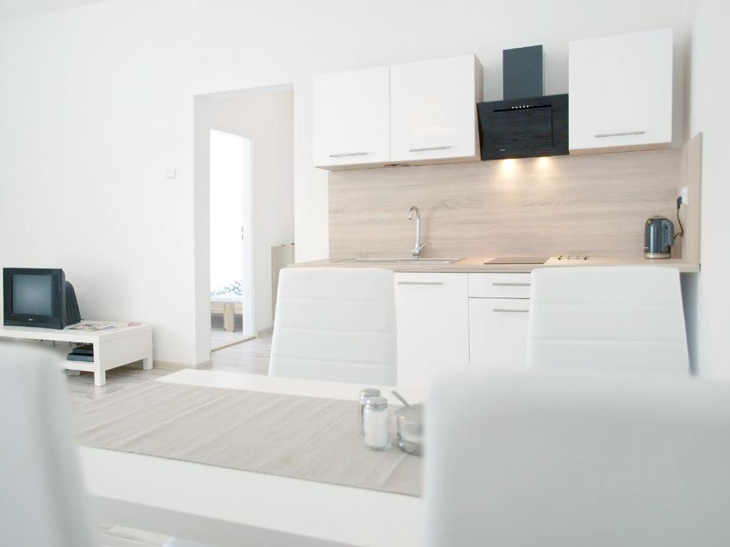A kitchen or kitchenette at Apartment Na Šanci