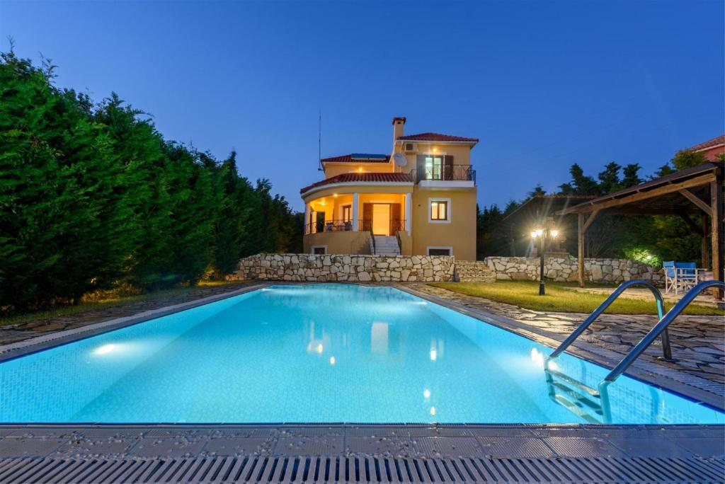 The swimming pool at or near Kefalonia Houses