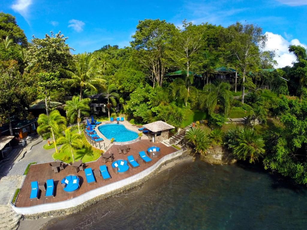 A bird's-eye view of Lembeh Resort