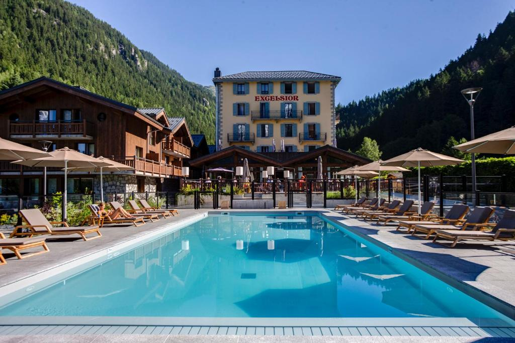 The swimming pool at or near BestWestern Plus Excelsior Chamonix Hôtel & Spa