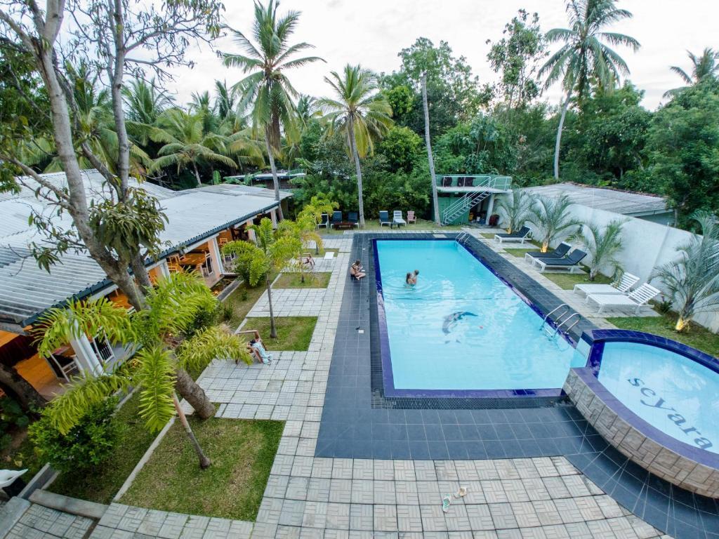 The swimming pool at or near seyara holiday resort
