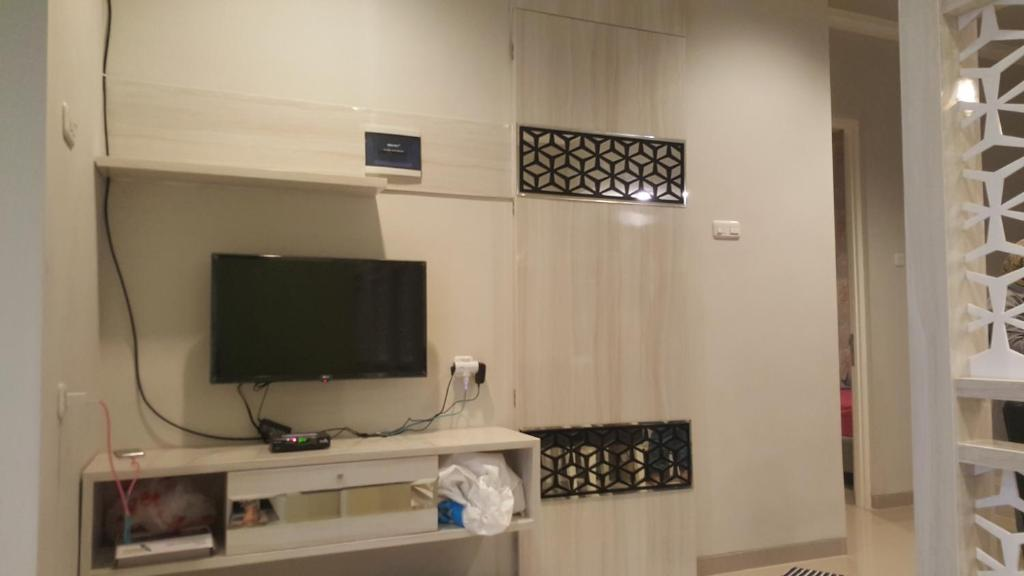 A television and/or entertainment center at Villa Jasmin