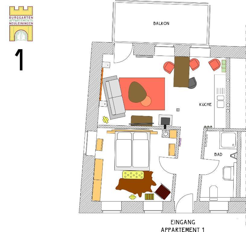 Burggarten Appartements Neuleiningen, Germany - Booking.com