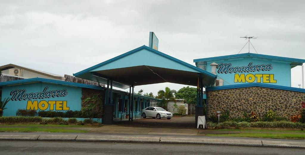 The logo or sign for the motel