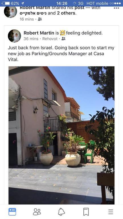 Casa Vital Boutique Hotel Israel Rechovot Booking Com