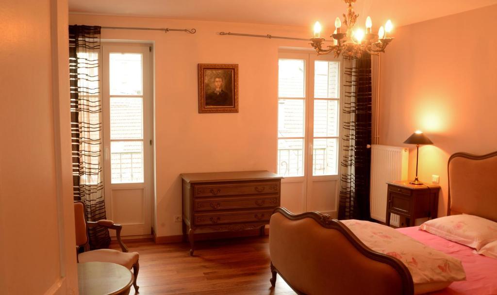 Coin salon dans l'établissement Residence des Bains