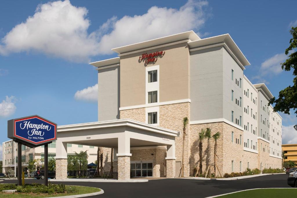 The Hampton Inn Miami Airport East.