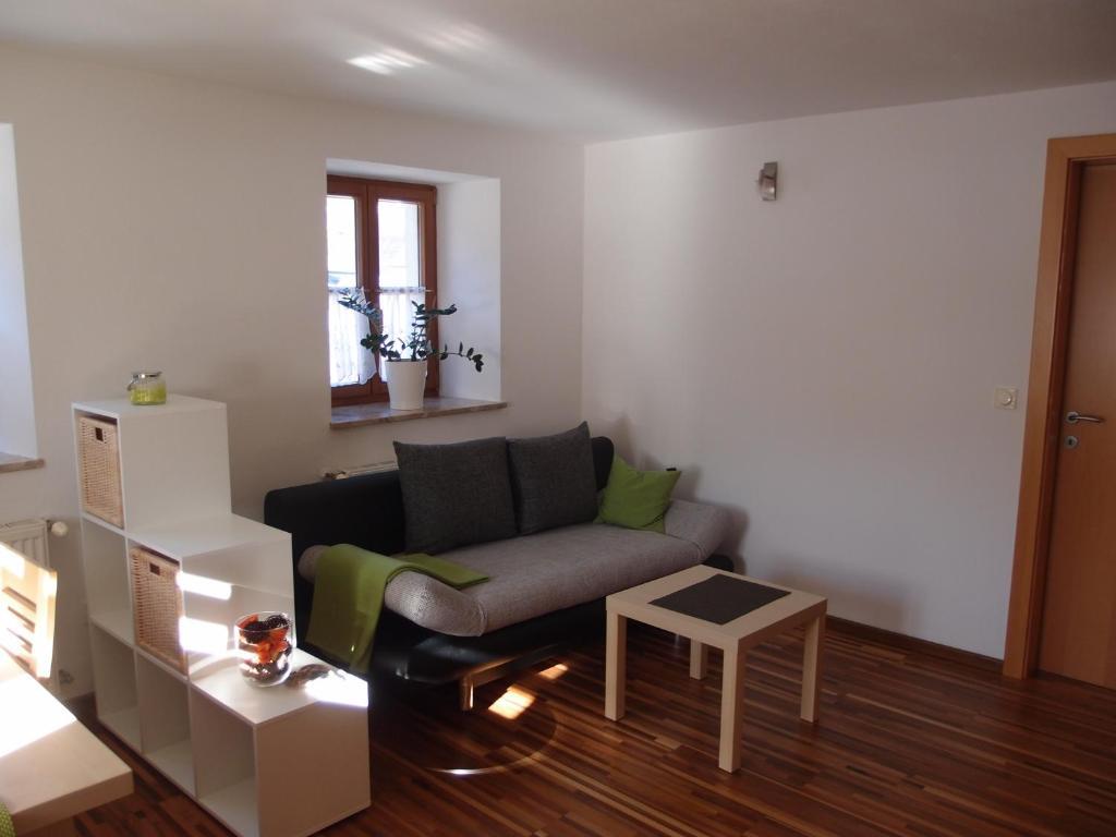 A seating area at Ferienwohnung Krämerhaus
