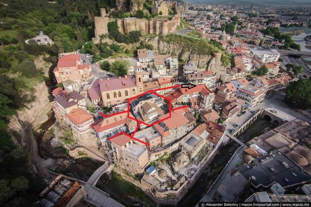 Tbilisi Apartment с высоты птичьего полета