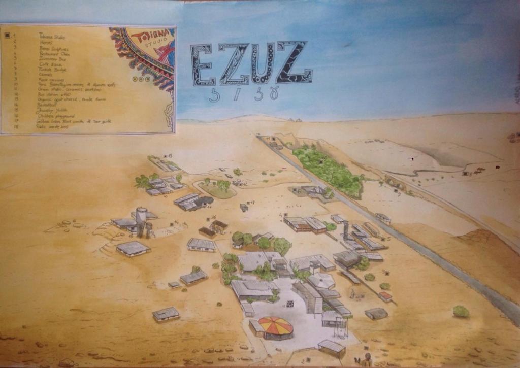 Lodge Tobiana Desert Lodging Ezuz Israel Bookingcom - Negev desert map