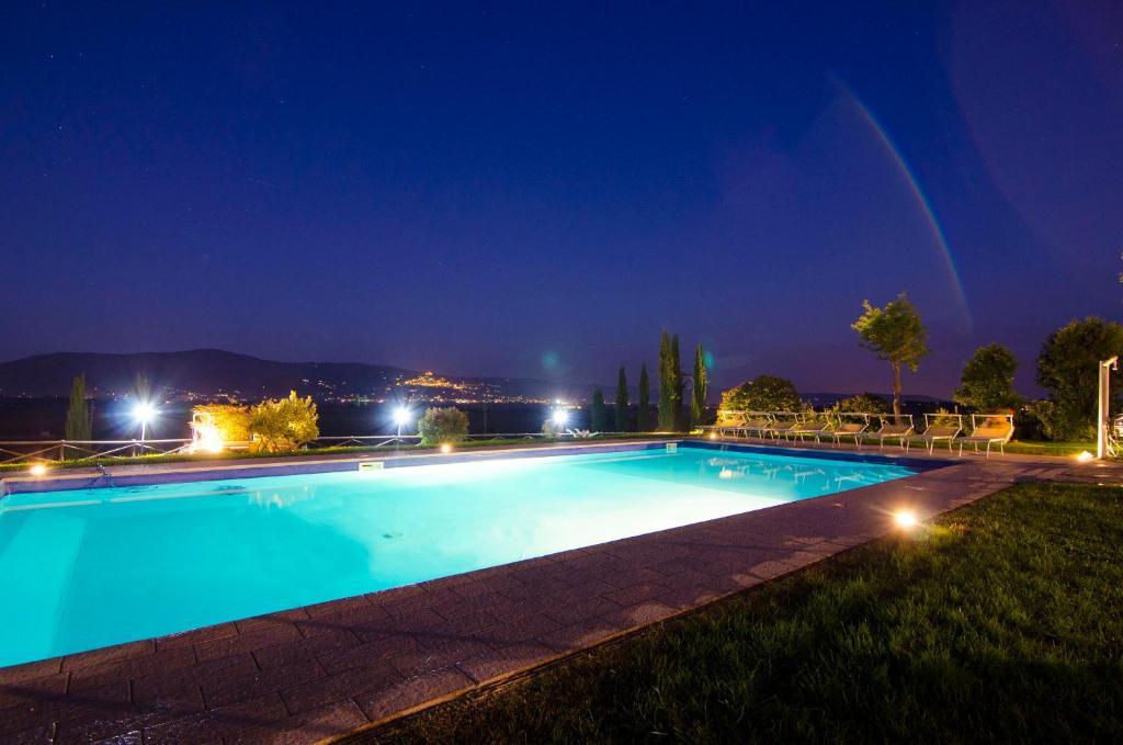 The swimming pool at or near Fattoria Le Giare Agriturismo