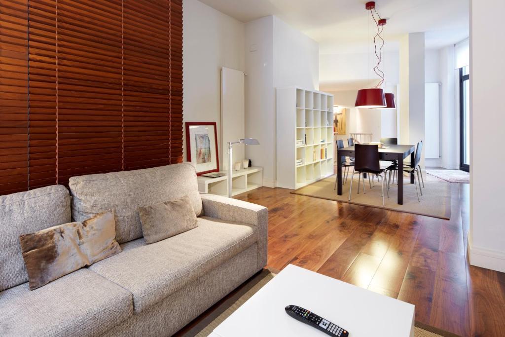 Zona de estar de Mahats - Basque Stay
