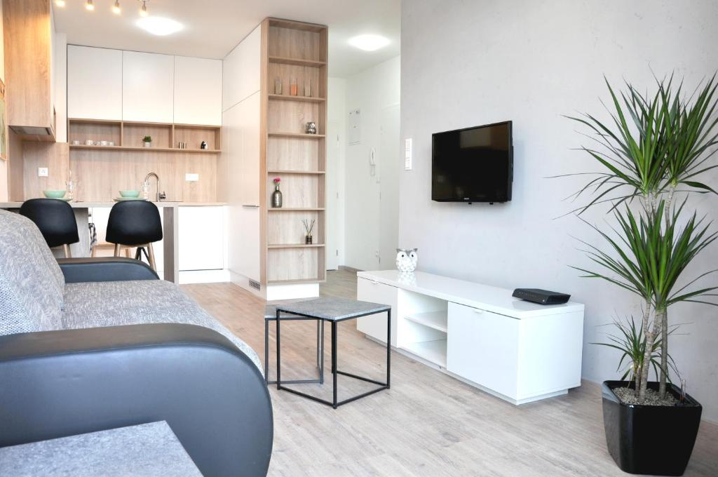 A seating area at Bratislava Apartment Prievozska