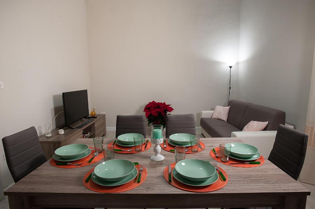 Coin repas dans cet appartement