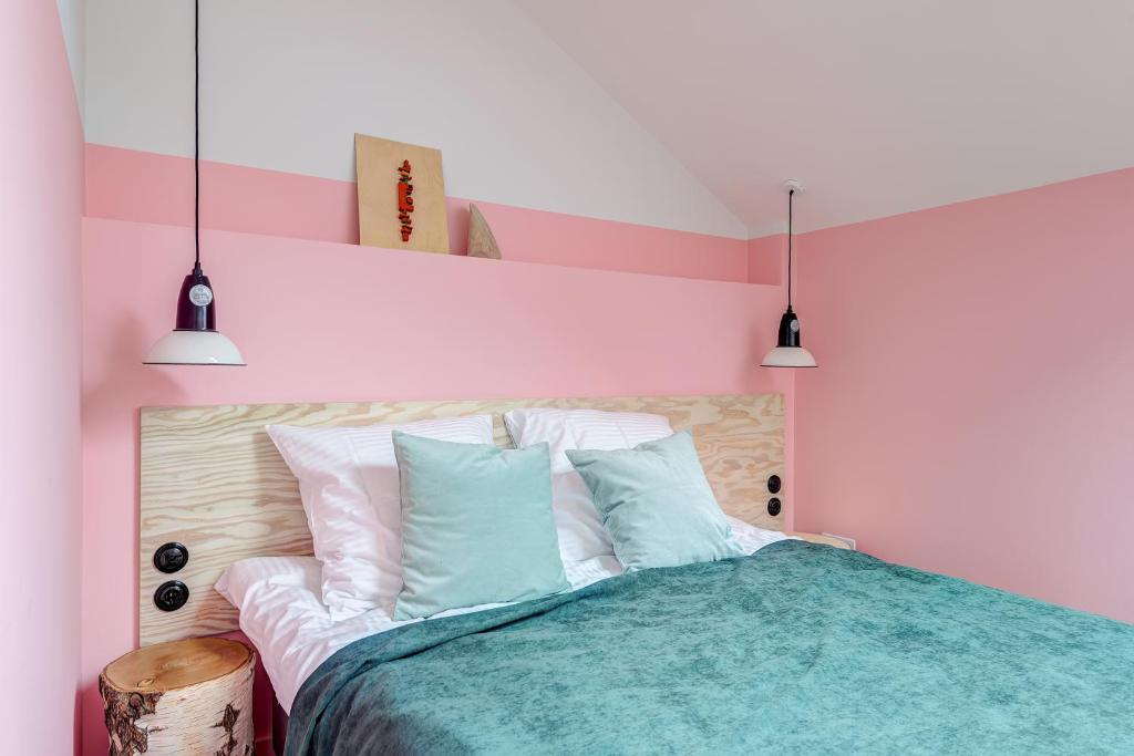 Кровать или кровати в номере Покровка 6 Отель