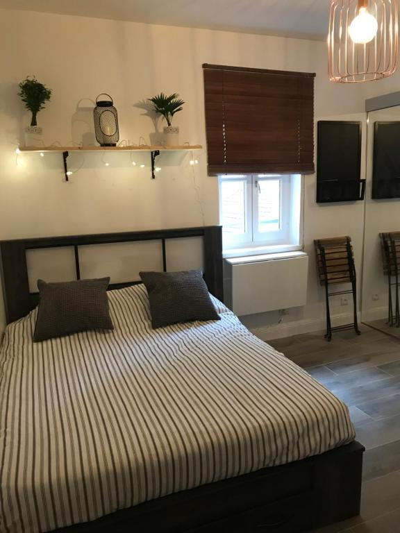 Un ou plusieurs lits dans un hébergement de l'établissement Studio au cœur de lyon