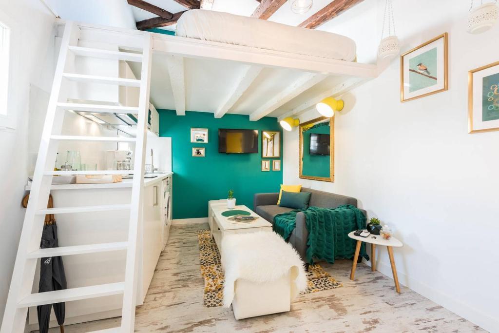 Appartement Buhardilla en Calle Amparo-Lavapiés (Spanje ...