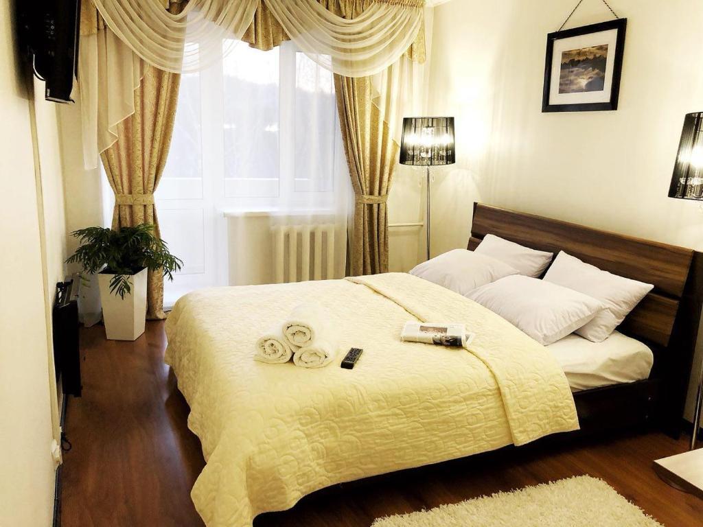 Кровать или кровати в номере Гостиница Райтекс