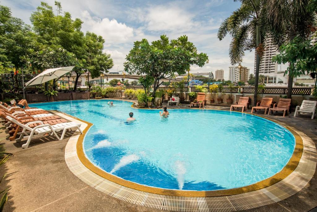 The swimming pool at or near New Siam Riverside