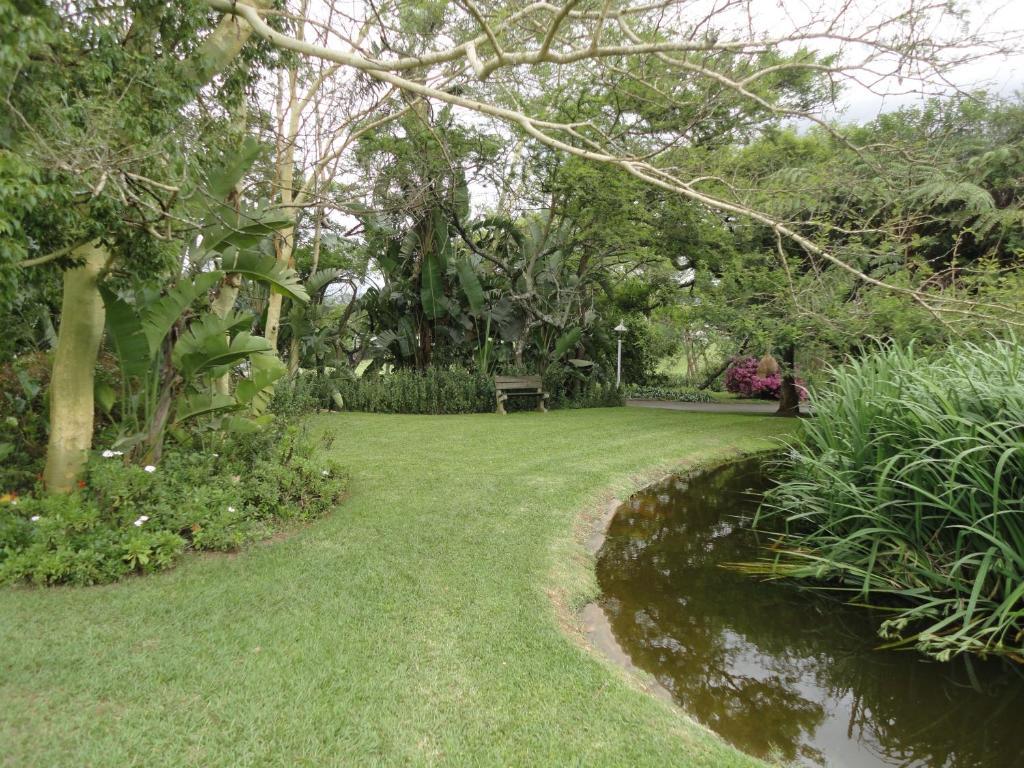 A garden outside Ascot Inn