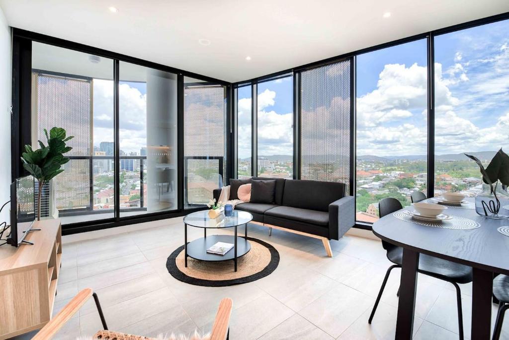 apartment uniquely styled designer pad with amazing views brisbane