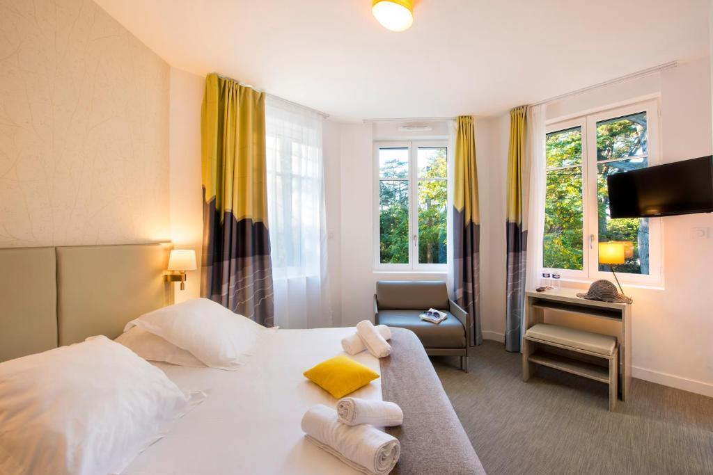 Un ou plusieurs lits dans un hébergement de l'établissement Villa Bettina