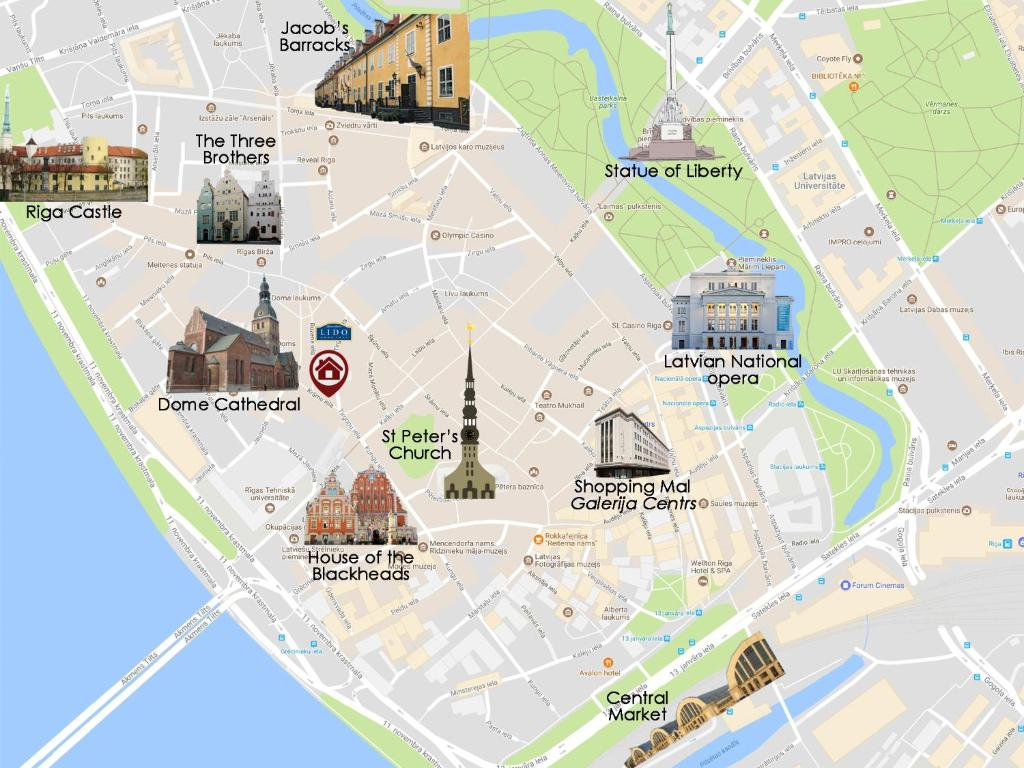 Apartment In Medieval Part Of Old Riga Rīga Updated Prices - Old riga map