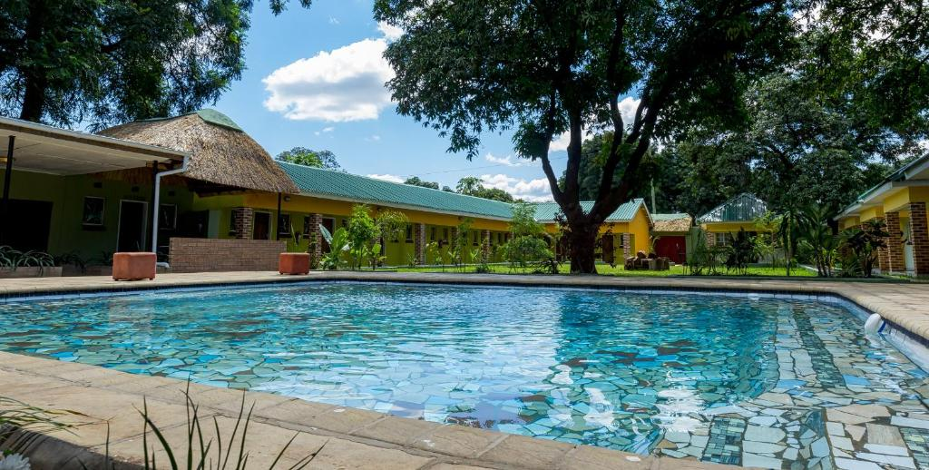 The swimming pool at or near Cafe Zambezi House of Africa