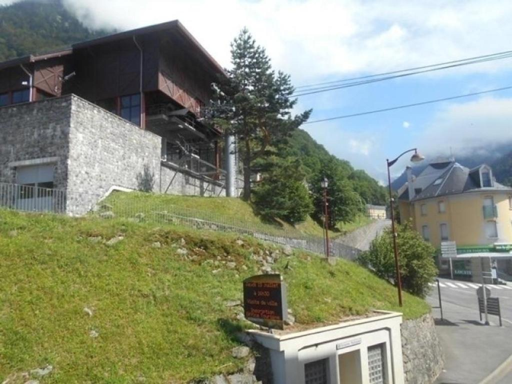 Cauterets france hotel balcony one floor up