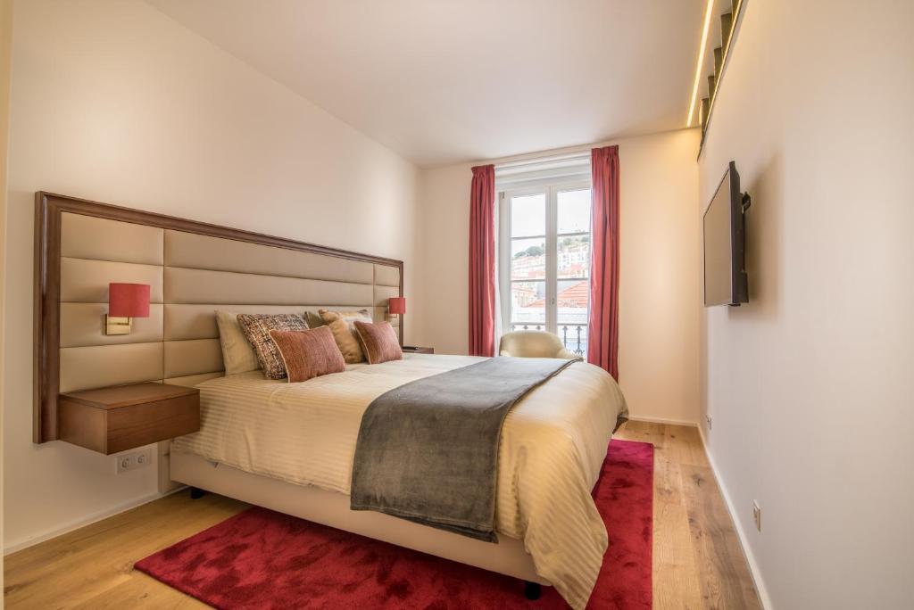 Voodi või voodid majutusasutuse Santa Justa 77 - Downtown Luxury Apartments toas