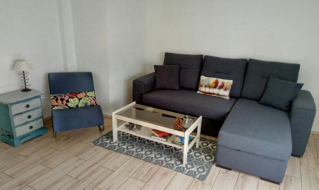 Zona de estar de Apartment Tazacorte Beach
